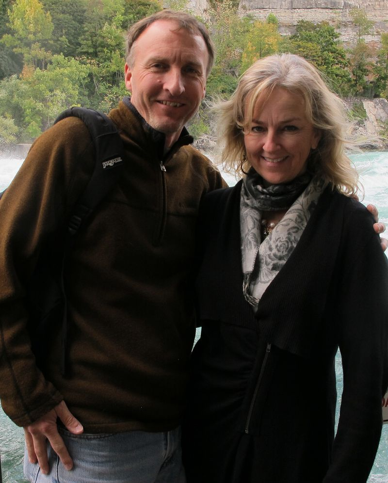 Dave and deryn at niagara rapids