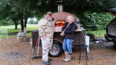 Pizza oven guy and Diane Cook