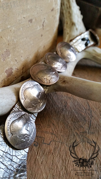 Indian Head Concho Bracelet 4a