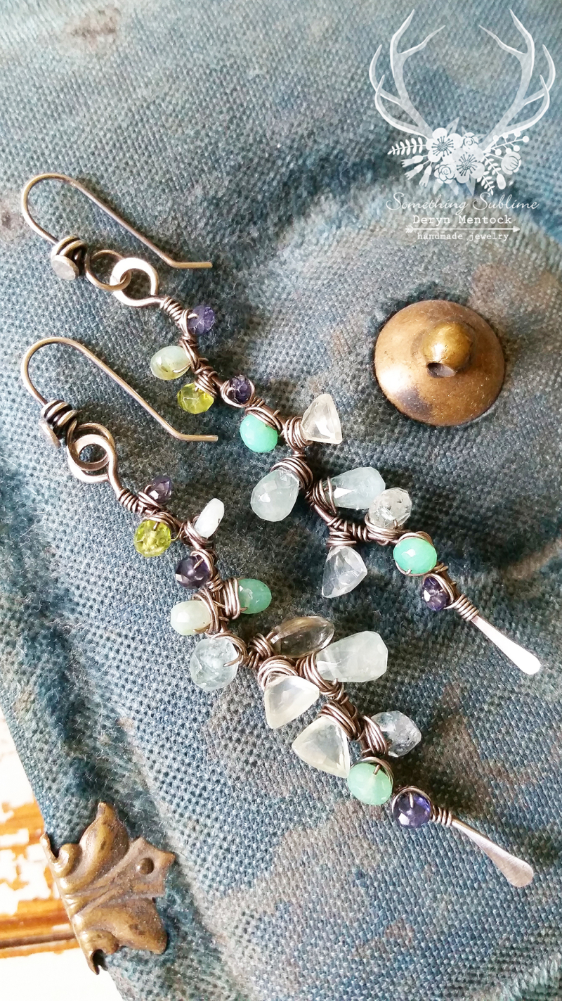 Gem stick earrings 1