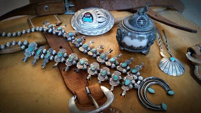 Turquoise and incense burner 2