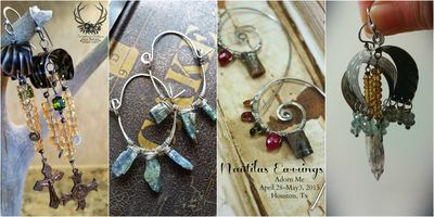 Nautilus Earrings collage